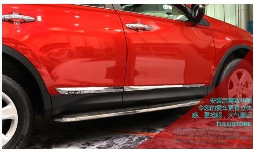 Chrome door Side Molding Trim 4pcs For 2013 2014 Toyota rav4 rav 4 3 door