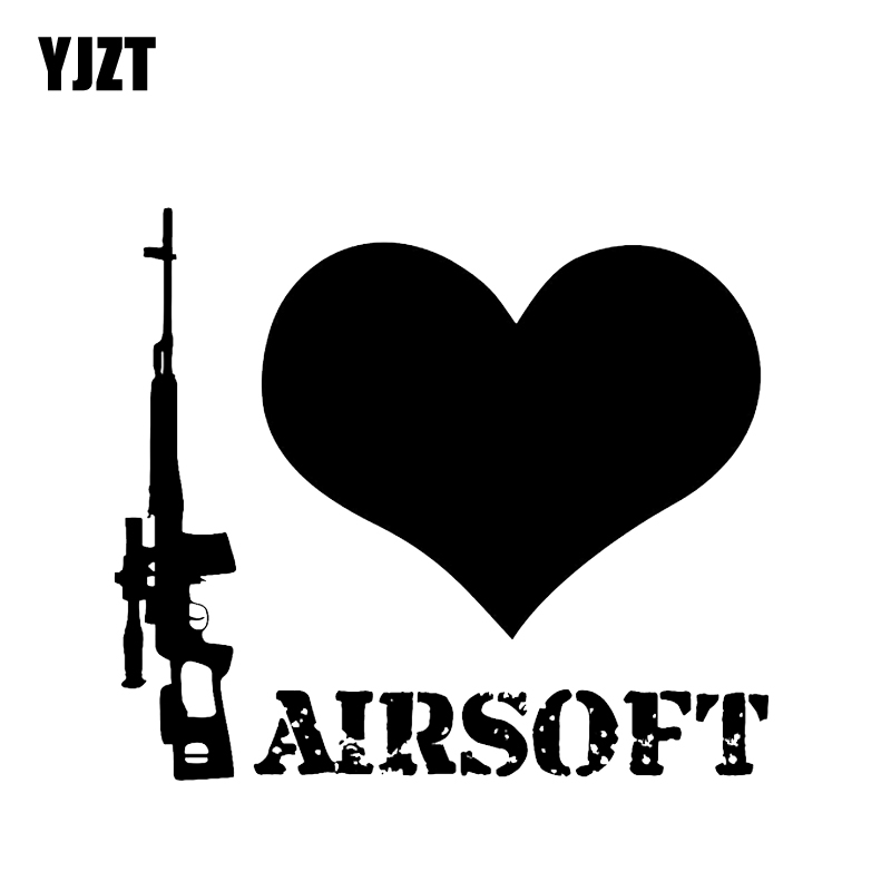 YJZT 14.5*12.8CM Coolest AIRSOFT Gun Decoration Vinyl Car Sticker High Quality Accessories Decals Motorcycle C12-0283