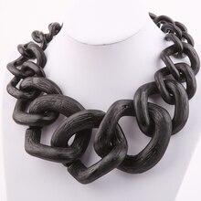 Collar de cadena de Cadena de Joyería de moda collar del traje Grande color Mate NK1004