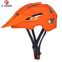 X-TIGER 사이클링 헬멧 트레일 XC 자전거 헬멧 인 몰드 MTB 자전거 헬멧 도로 산악 자전거 헬멧 안전 오프로드 캡