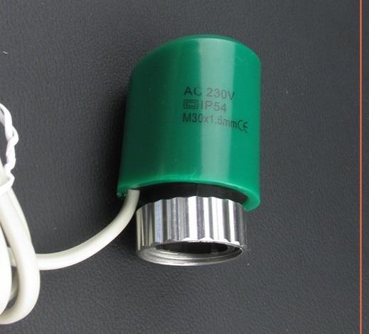 24v 230v Normally Open Close Electric Thermal Actuator For Manifold Underfloor Heating Valve Calefaccion Suelo Radiante Actuador
