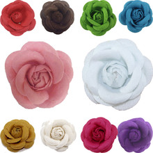 Hot Women Fashion Chic Charm Elegant Corsage Camellia Brooch Pin Jewelry Accessory 11 Colors