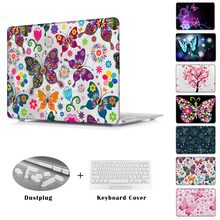 Coloré papillon amour imprimé Cas pour MacBook air 11 12 Air 13.3 Pro 13 15 Retina A1278 A1502 A1398 A1465 A1466 Couverture manches