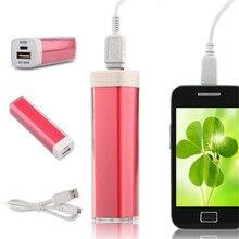 Square Tubular 3500mAh Portable Power Bank Plastic Pipe Lips