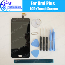 Umi Plus Lcd scherm Met Touch Screen Vergadering 100% Originele Lcd Digitizer Glass Panel Vervanging Voor Umi Plus Telefoon + geschenken