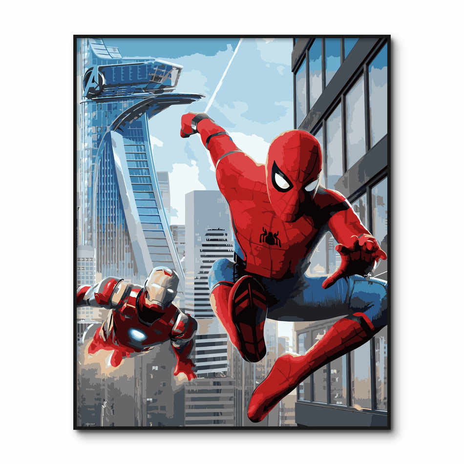The Avengers Modular Wall Paintings By Numbers on canvas Marvel Paint By Number for Adults Crafts Kits Spider Man DIY Paintings