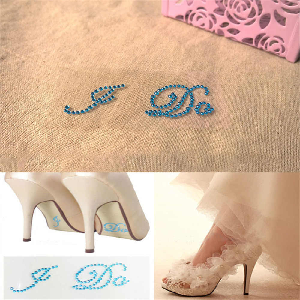 ... 1 Set White Clear Rhinestone I Do Me Too Bridal Groom Shoe Sticker For  Shoes Decoration ... f8dfd40522cd
