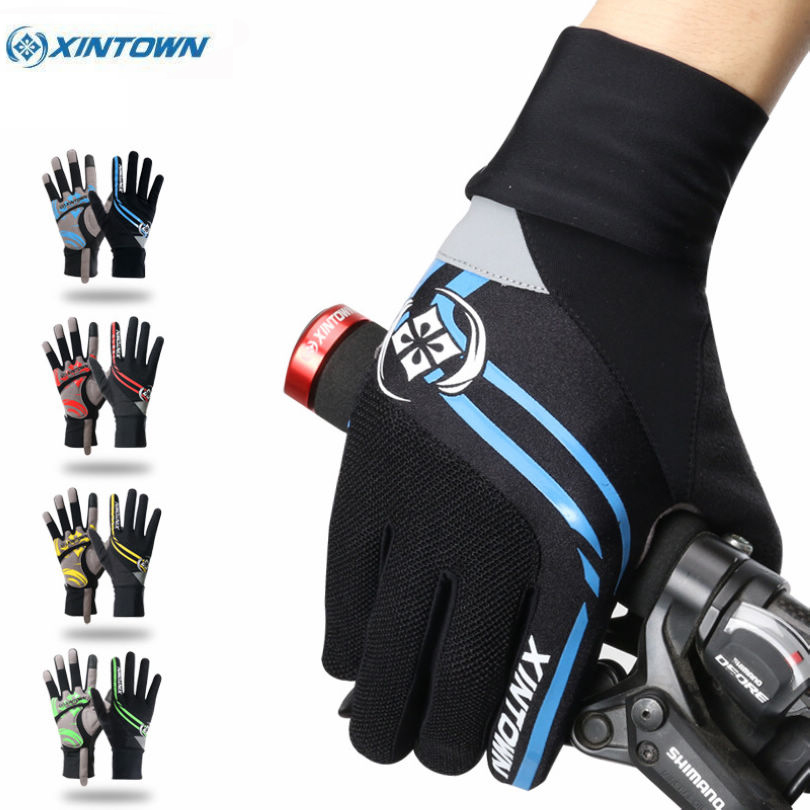 XINTOWN Riding Ciclismo Winter Cycling Gloves Bike Windproof Sports Wear Touch Screen Full Finger Long Gloves 4-Colors