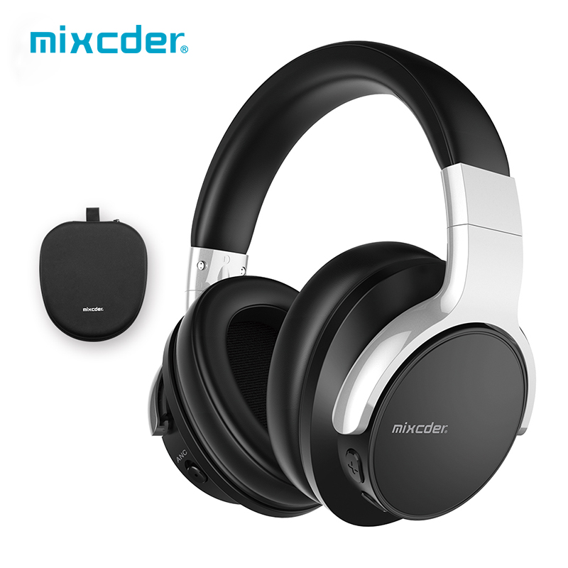 Mixcder E7 Active Noise Cancelling Bluetooth Headphone with Microphone Stereo Headset Deep Bass Wireless Headphones for