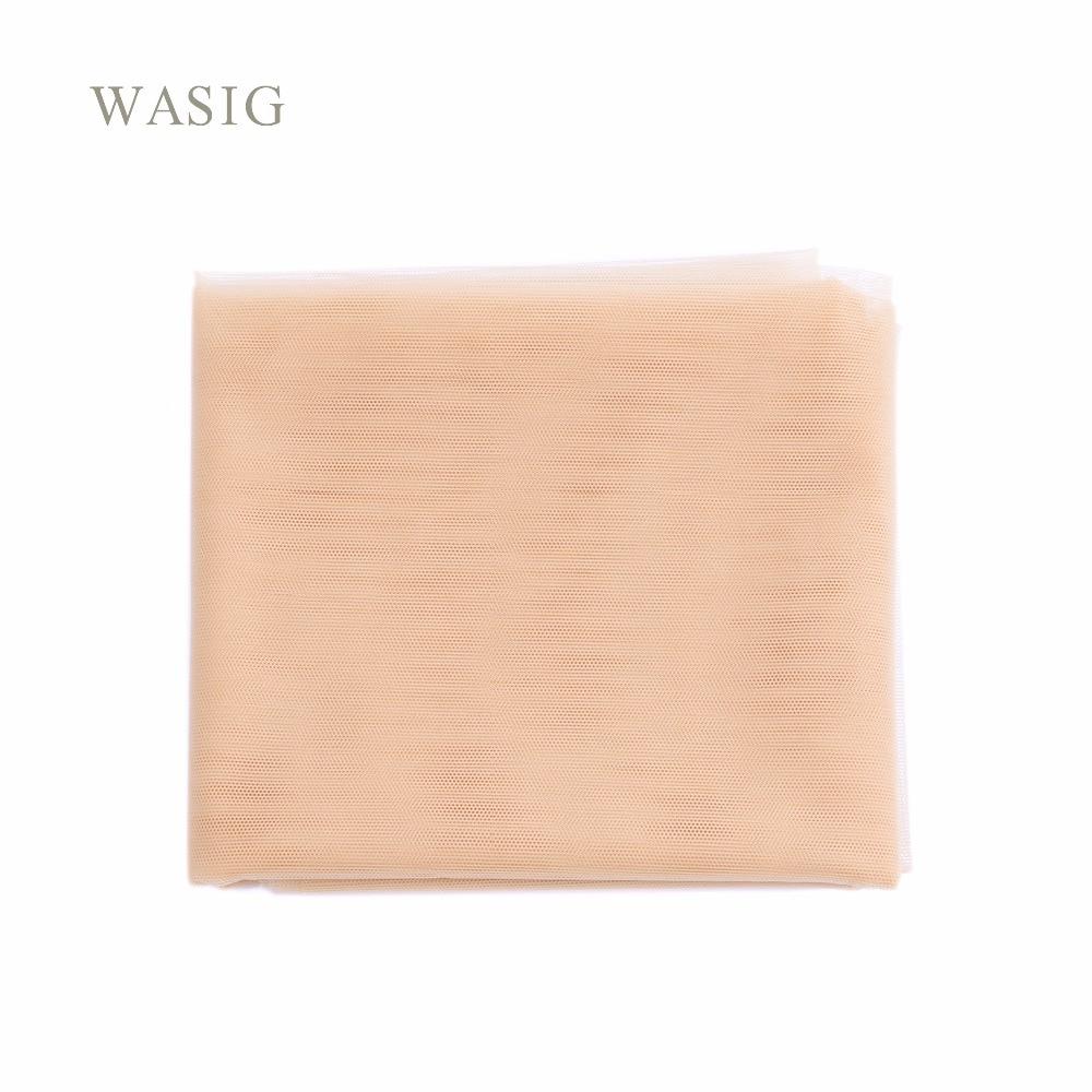 Бежевый 1 ярд швейцарское кружево сеть для изготовления парика-накладка верхнее закрытие волос основа для макияжа лица...