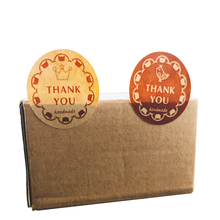 80pcs/lot Round THANK YOU Sealing Sticker Paper Package Label