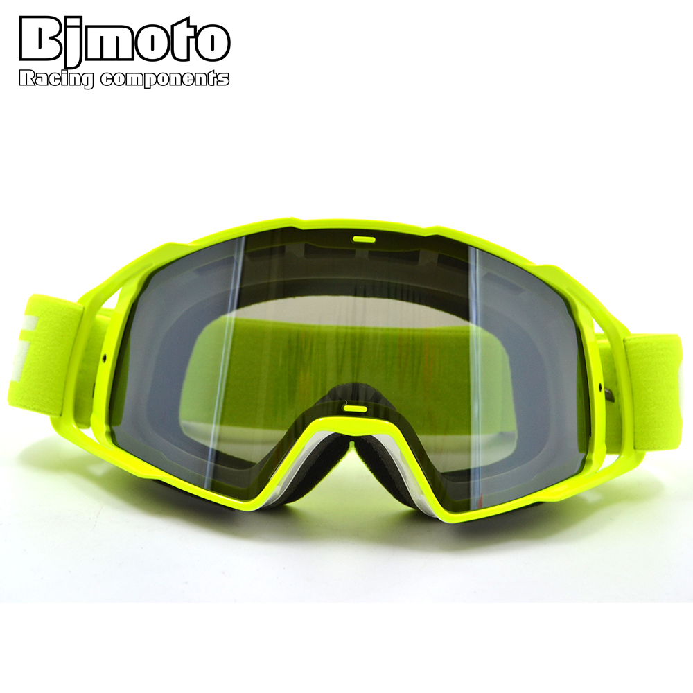 BJMOTO Men Women Motocross Goggles Glasses Flexible Dirt Bike Off Road Helmet Goggles For Motorcycle MTB DH Sunglass
