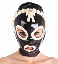 Unisex Sexy Latex Rubber Mask With Lace Plus Size
