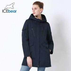Image 2 - ICEbear 2019 neue herbst frauen jacke hohe qualität parka casual damen jacke schlank mit kapuze marke jacke GWC18010I