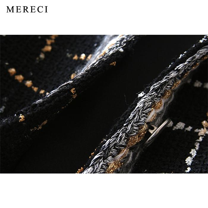 Haute Tweed Veste Purebliss Piste Designer Automne Manches Élégante Formelle Longues 2017 De Plaid Noir À Dames Manteau Qualité OE1wrqtx1