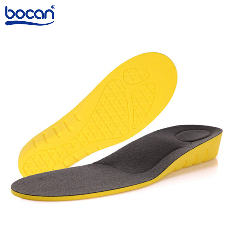 BOCAN Height increase insoles for 2 cm arch support orthopedic inserts foot care pads pu material