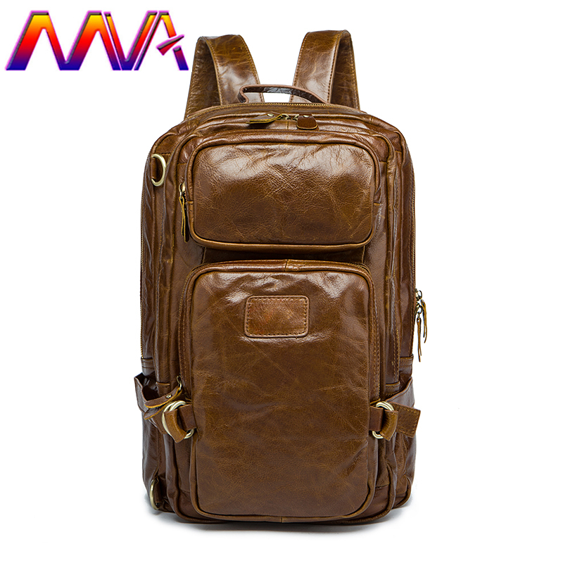 MVA Best quality cowhide leather men backpack for fashion travelling bag with genuine leather men backpack or crossbody bags mva best quality cowhide leather men backpack for fashion travelling bag with genuine leather men backpack or crossbody bags