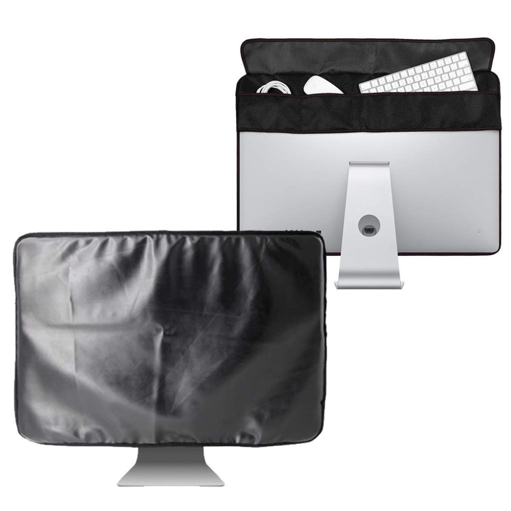 21 inch 27 inch Black Polyester Computer Monitor Dust Cover Protector with Inner Soft Lining for Apple iMac LCD Screen LA001 image