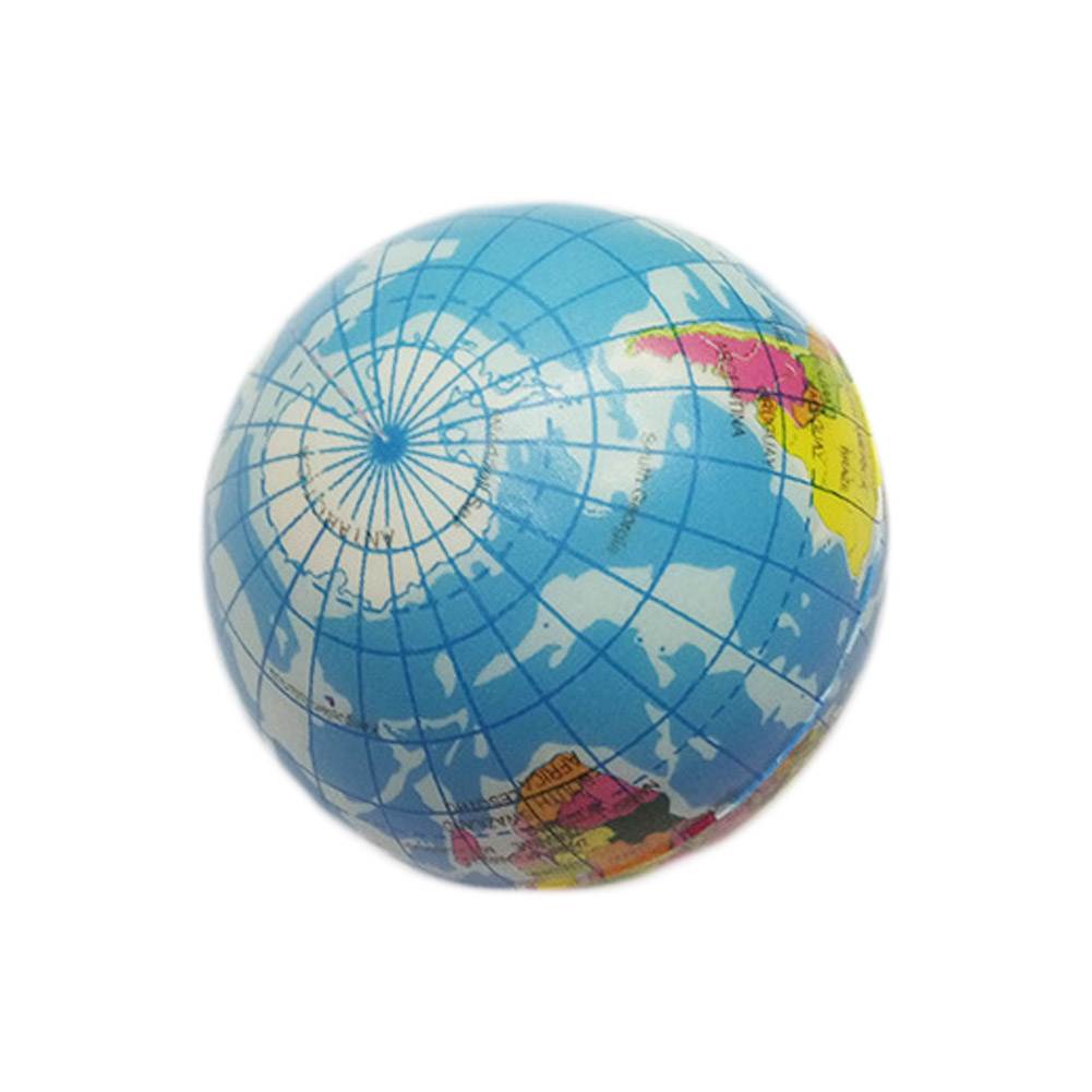 New 1Pc Soft Foam Rubber Ball Toy World Map Earth Globe Hand Wrist Exercise Stress Relief