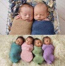Newborn Photography Props Blanket Cotton  Wrap Stretchable Baby Wrap Blanket  Swaddling Newborn Photo Shoot   Newborn Wrap