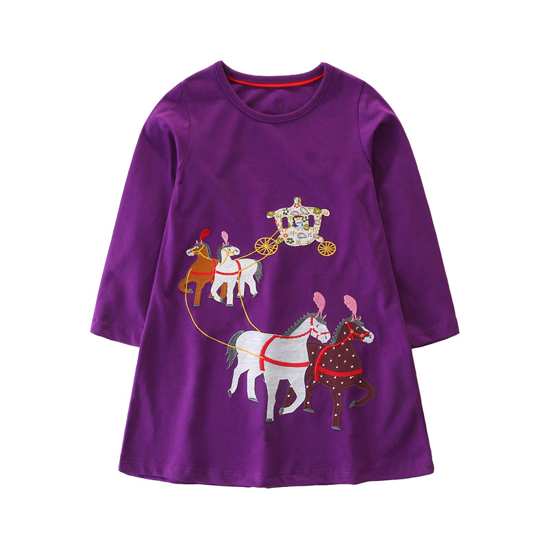 Applique baby clothing dresses Royal carriage cotton kids autumn dress hot selling long sleeve hot selling baby clothes dresses silk dresses women elegant beach dress long v neck rose pink printed style high quality clothing free shipping hot selling