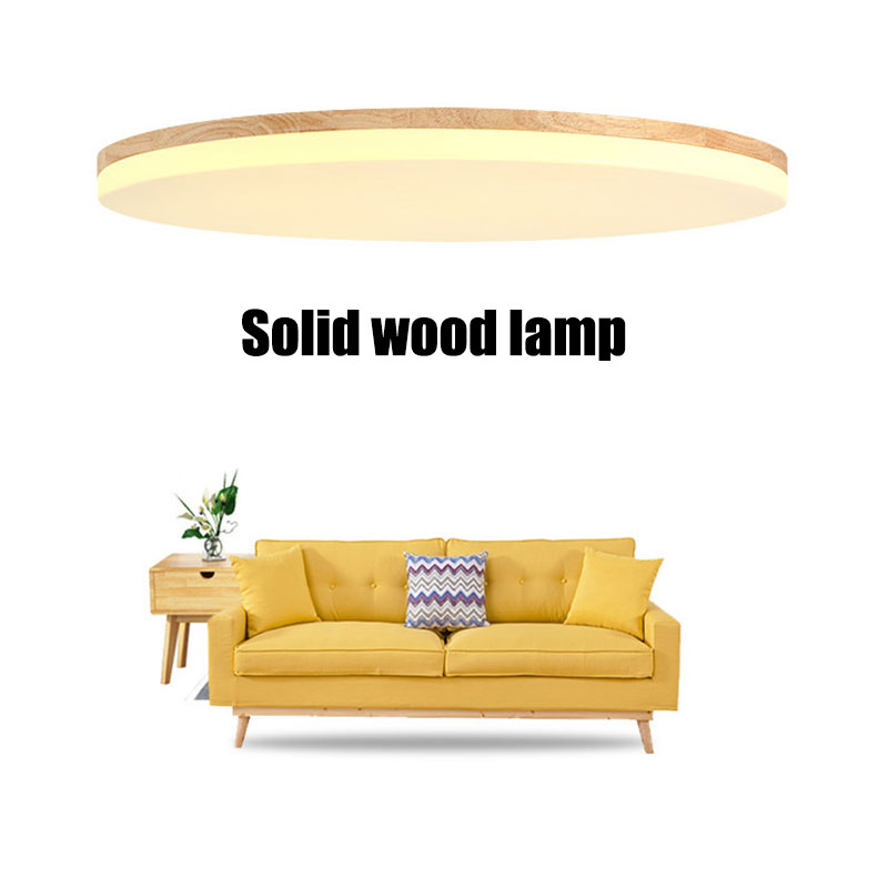 Ultra-thin 5cm 18W LED Ceiling lighting Modern Wooden Ceiling lamps for Living Room chandeliers Ceiling for the hall Ultra-thin 5cm 18W LED Ceiling lighting Modern Wooden Ceiling lamps for Living Room chandeliers Ceiling for the hall
