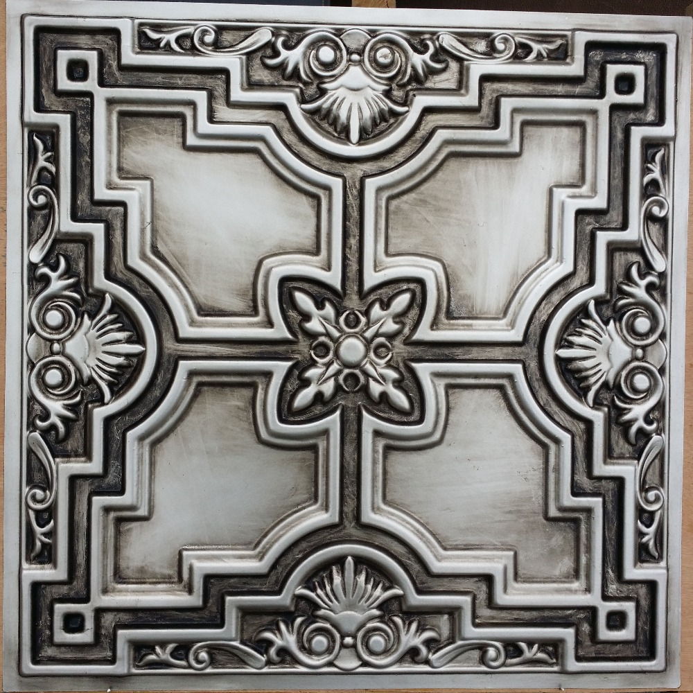 silver tiles talissa product faux decor products tile aged ceiling tin classic