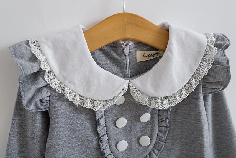 HTB1OkZNJpXXXXbhXFXXq6xXFXXXW - 2017 spring autumn new arrival cotton girl korean clothes doll collar long sleeved casual girls A-line mini dress kids clothing