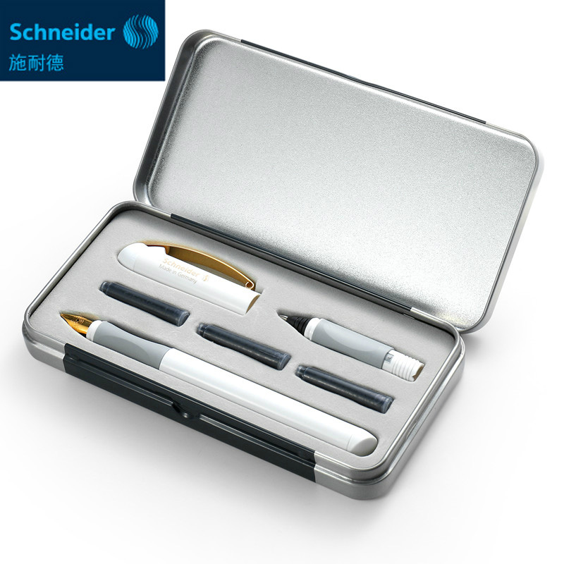 Germany Schneider Fountain Pen 0.5mm Two-way Signing Pen Luxuriou Gel Pen Ink Cartridge Pen Business Gift Box Stationery