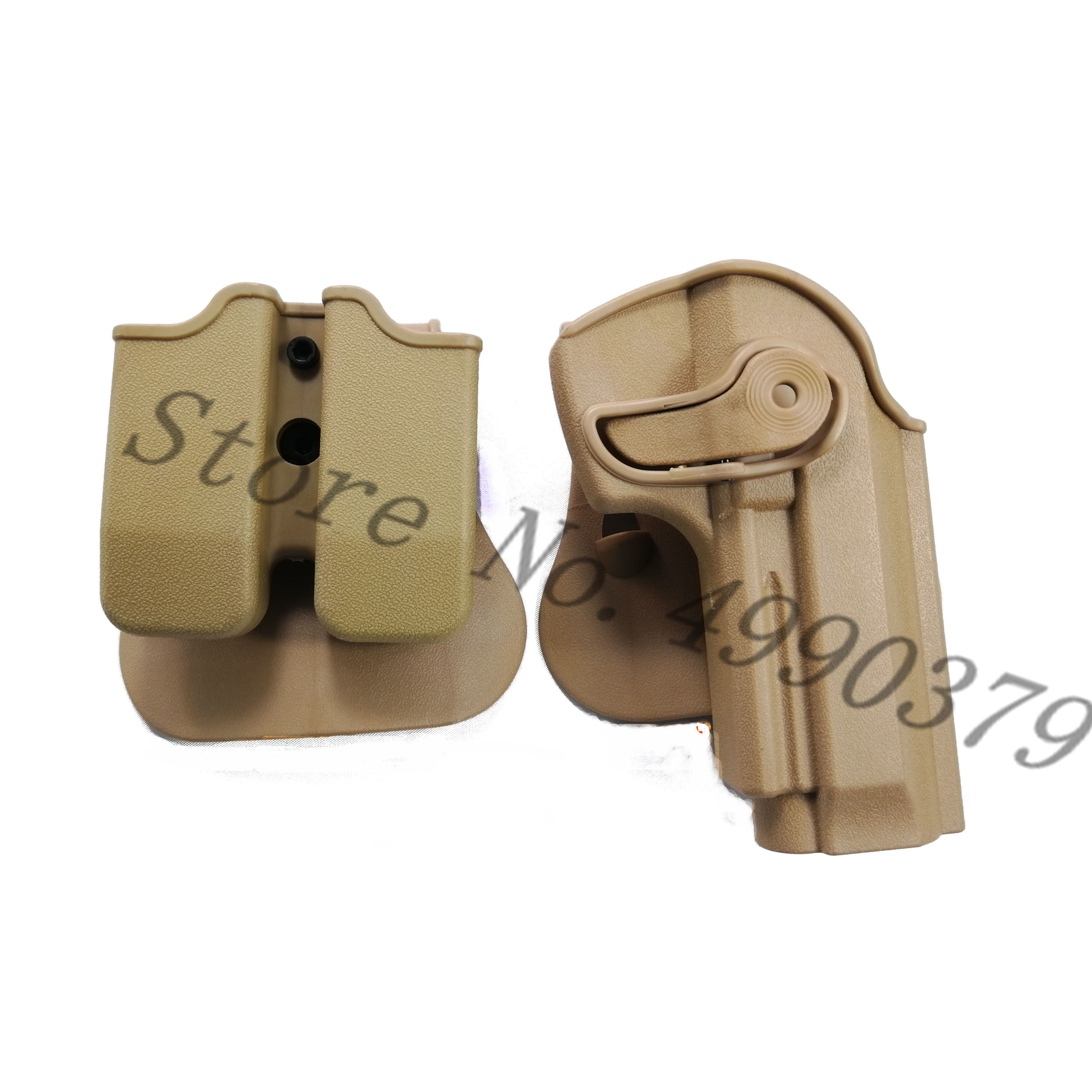 Image 5 - M9 Holster Tactical IMI Right Hand BERETTA M92 Holster Paddle Pistol Gun Holster Gun Airsoft Case Hunting Accessories-in Holsters from Sports & Entertainment