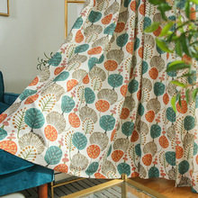 Curtains for Living Room  Printed Curtain Fabric of Cotton and Linen