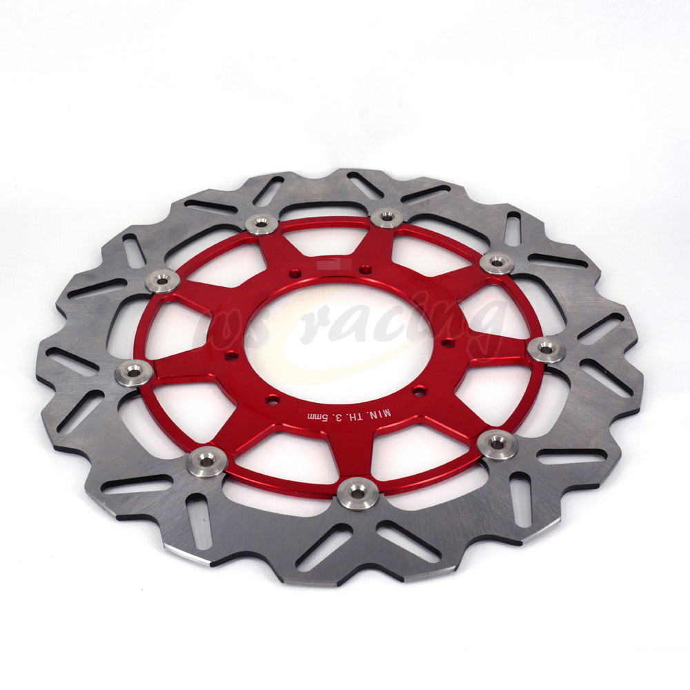 CNC 320MM Motorcycle Front Floating Brake Disc Rotor For HONDA CR125R CR125E CR250R CR250E 95-08 CR500R CR500E 95-01 CRF230 motorcycle front and rear brake pads for honda cr125r cr250r cr500r cr 125 250 500 r 1987 2001