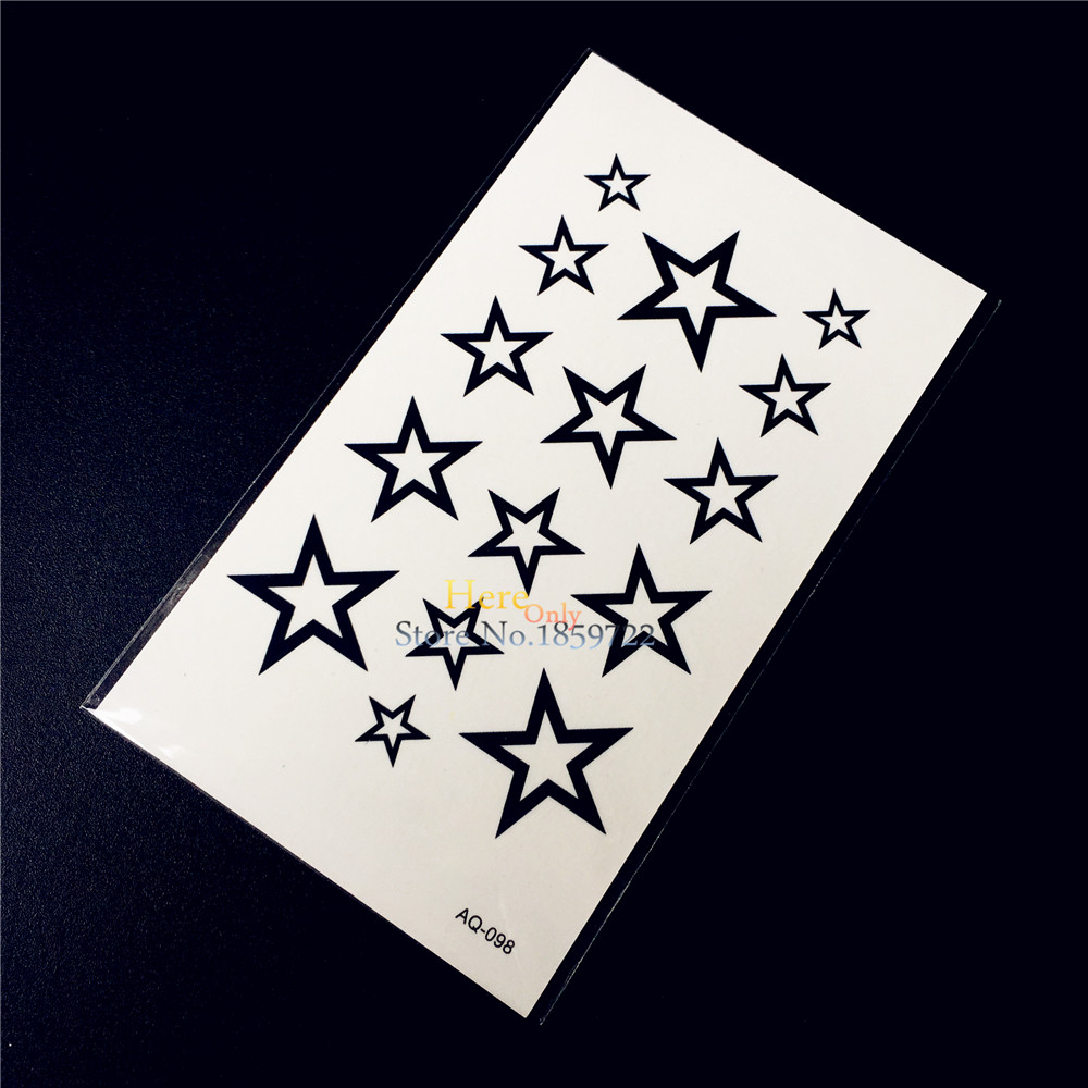 Indah Bintang Perhiasan Chains Waterproof Flash Palsu Tattoo Kaos Kaki Jempol Motif Henna Cr 006 Stiker Anak Desain Haq 098 Pasta Air Transfer Tato Gelang