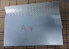 10 ورقة/حزمة A4silver الفراغ ذاتية اللصق ورقة الطباعة ورقة تسميات الطباعة a4 فارغة ملصقا تسمية مخصصة