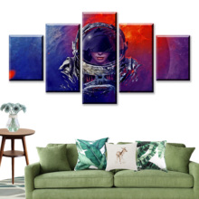 HD Print 5 Piece Movie Canvas Art Poster Sci Fi Paintings Astronaut On Wall For Home Decorations Decor Framework