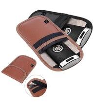 Sacchetto del sacchetto di blocco del segnale antifurto 2pcs per Faraday Cage Shield Car Key Fob per carte di credito protezione RFID per orologi intelligenti