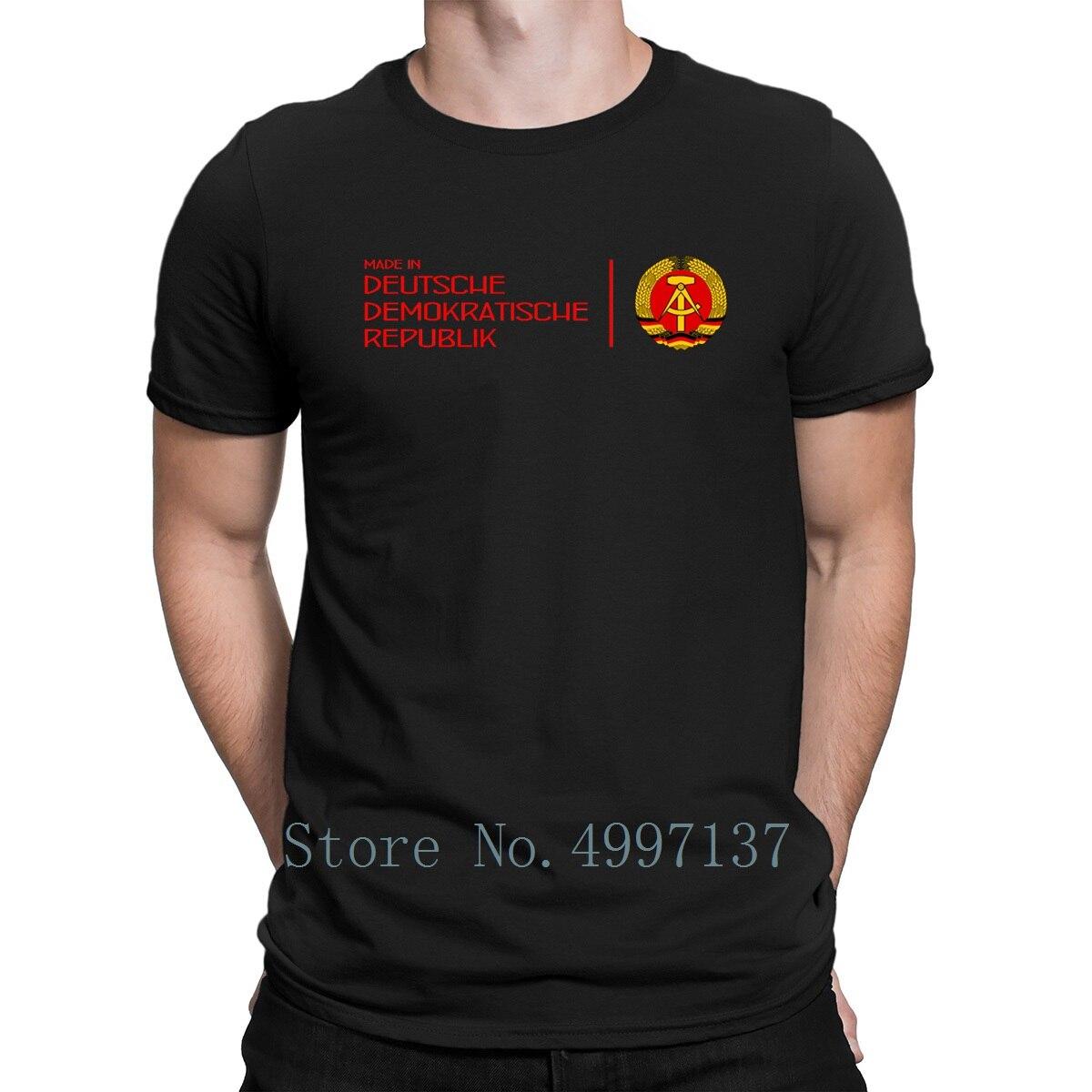 Feito Na República Democrática Alemã Deutsche Ddr Demokr Rep Berlim T Camisa Sol Confortável 100% Algodão Fresco Camisa Gola Redonda Primavera Personalizado