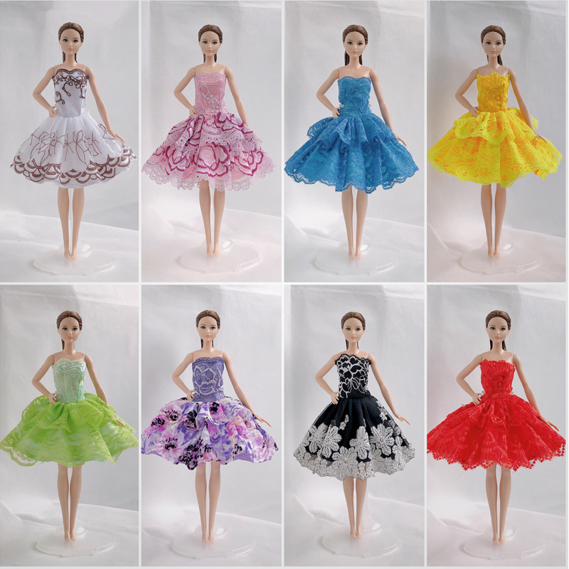 """3pcs//lot One Shoulder Fashion Dress For 11.5/"""" Doll Clothes Evening Dresses Toy"""