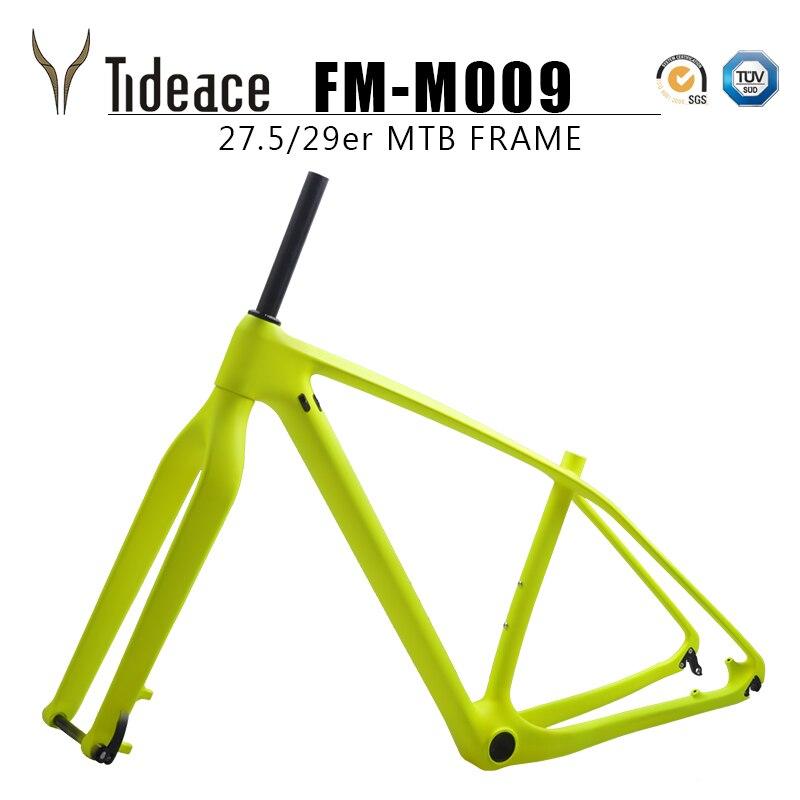 OEM Rigid mountain bike frame disc 29er 27.5er 142*12 or 135*9 Carbon MTB Frameset with fork together on sale Bicycle Frame     - title=