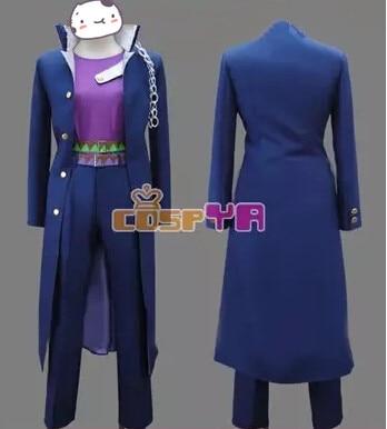 Free shipping JoJo's Bizarre Adventure Stardust Crusaders Kujo Jotaro Men Coat Shirt Pant hat belt  cosplay costume