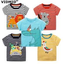 VIDMID 2-7Years Children baby boys Kids Boys T-Shirt Cotton Cartoon animals Baby Short Sleeve t-Shirts For Summer clothing