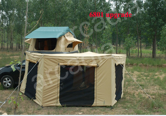 Australian Style Waterproof Off Road Car Trailer Roof Top Tent With Awning