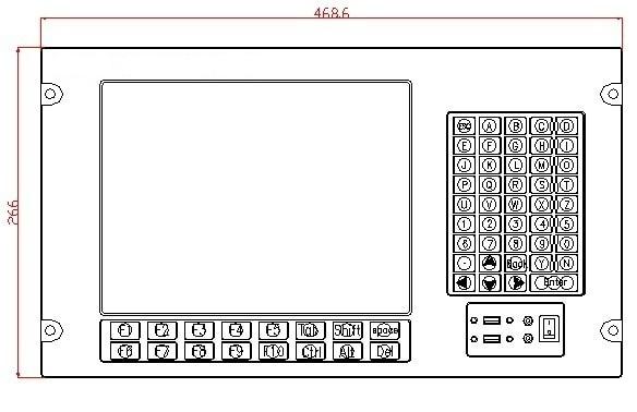 6U rackmonteret industriel computer, 12,1 tommer LCD, Core i3-3217U - Industrielle computere og tilbehør - Foto 3