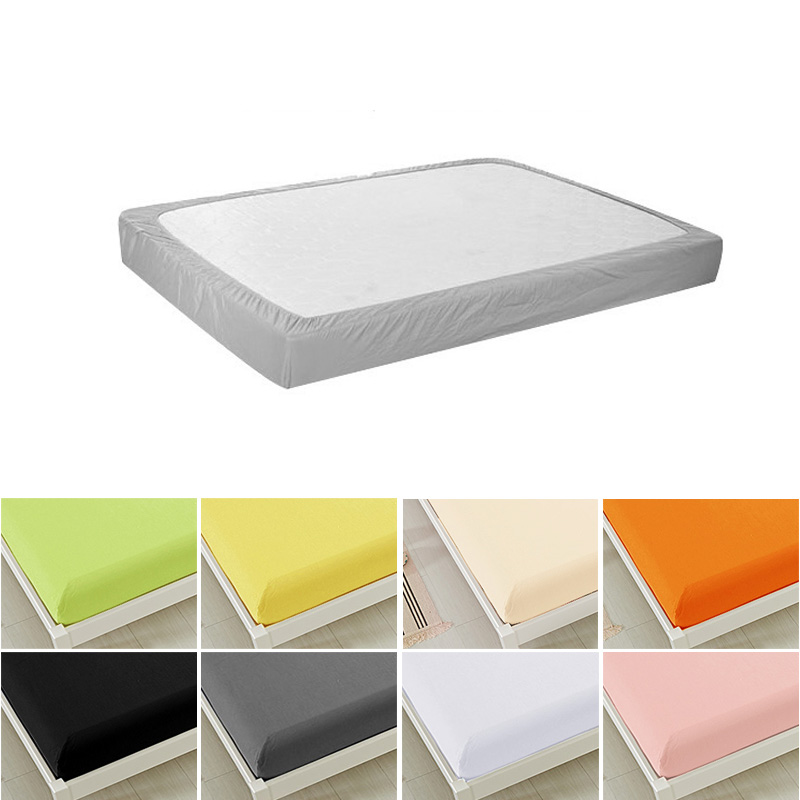 ⓪1 Pcs Plain Fitted Sheet ٩ ‿ ۶ Deep Deep 12 15in Bed ②