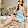 100% pure silk nightgowns women Sexy sleepwear Home dresses LACE SILK nightdress SATIN nightie Summer style girl dress