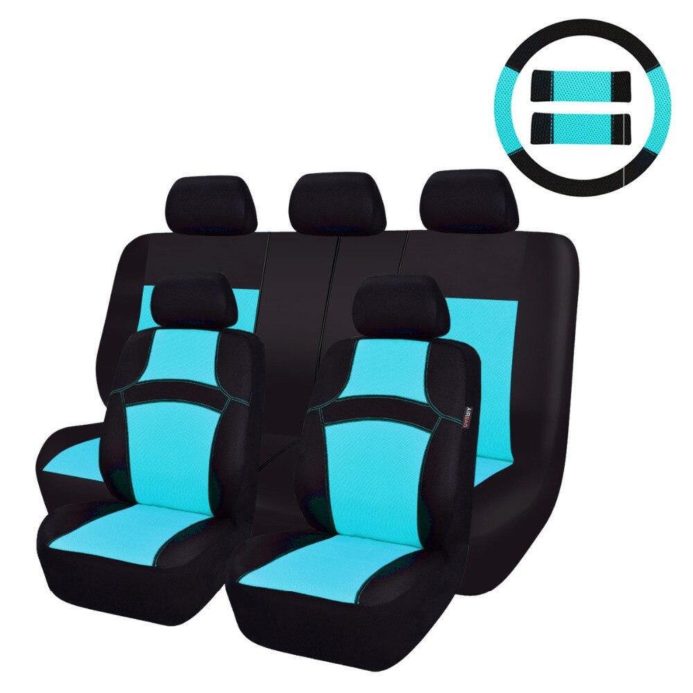 Housse de siège auto auto Sandwich bleu Orange jaune violet vert accessoires voiture housse de siège auto pour ford lada renault logan audi