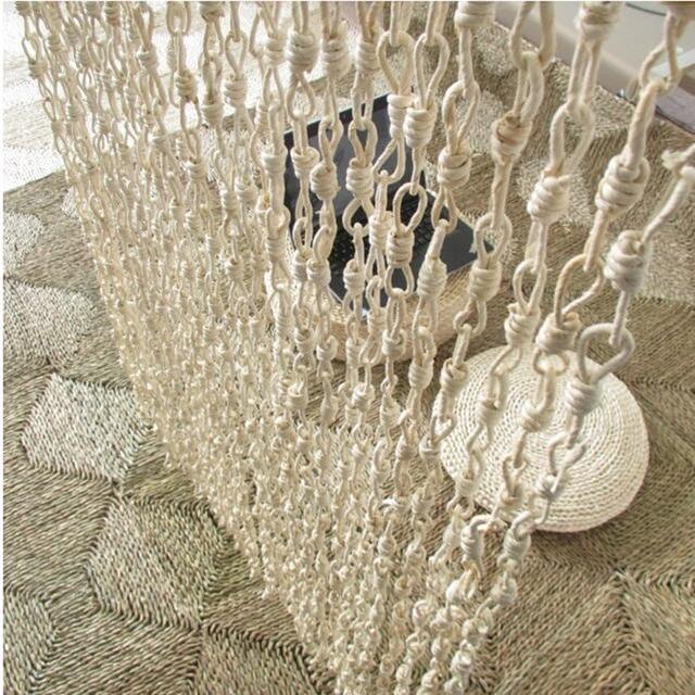 Puerta de bambú cortinas trenza de paja partición de hecho a mano ...