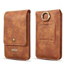 Multifunktions 5.2 ~ 6.5 Leder Telefon Beutel Taschen Haken Schleife Gürtel Clip Fall für Samsung Hinweis 10 9 8 brieftasche Taschen für iPhone 11 XR