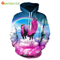 ACTIONCLUB 2017 Spring New Fashion mens hoodies and sweatshirts With Cap 3d Print Rainbow Hip Hop Coats Casual Sportswear fabric