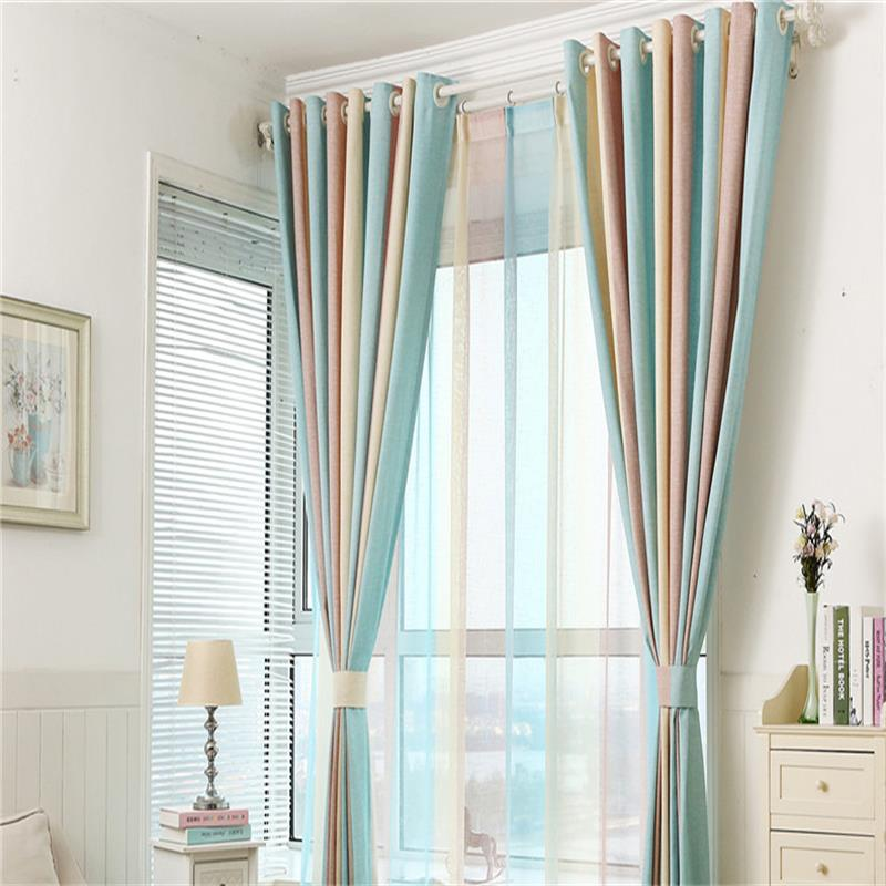 Modern Colours Stripe Blackout Window Curtains Drapes Shades For Living Room  Bedroom Kitchen , Grommet Top,hook,rod Pocket In Curtains From Home U0026  Garden On ... Part 81